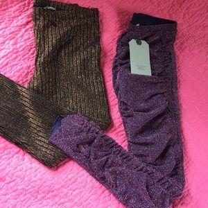 NWT Zara Girls Sparkly Legging Bundle Size 9